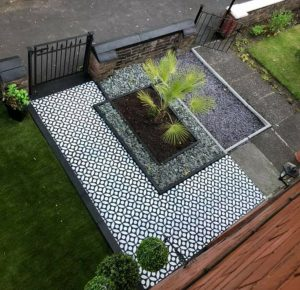 After slabs painted stencils