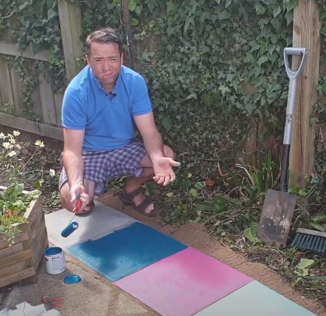 painting concrete slabs