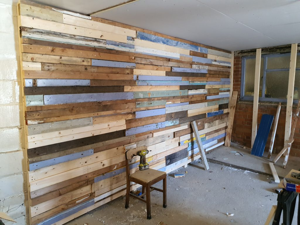 Pallet Wall After