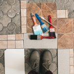 How to paint floor tiles?